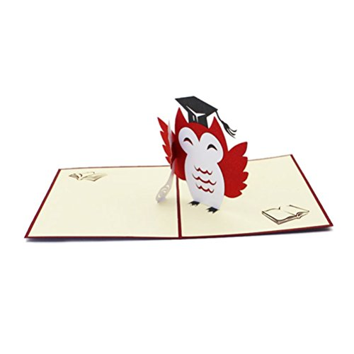 �-Karten-Abschluss-Kappe 3D Pop-up-Karten-handgemachte Abschluss-Einladungs-Karten Rat-Absolvent-Karten für Abschlussfeier (Lehrer-abschluss-einladungen)