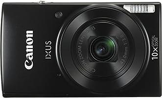 Canon IXUS 180 Digitale Kompaktkamera (20 MP, 10x opt. Zoom, 4x dig. Zoom, 6,8 cm (2,7 Zoll) LCD Display, WLAN, Bildstabilisator) schwarz
