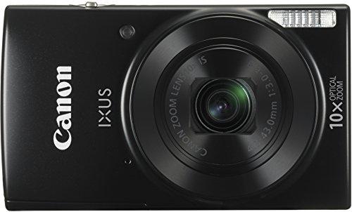 Canon IXUS 180 Digitalkamera (20 Megapixel, 10 x opt. Zoom, 4 x dig. Zoom, 6,8 cm (2,7 Zoll) LCD Display, WLAN, Bildstabilisator) schwarz