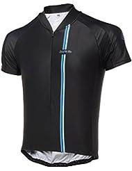 Dare2b Sublimation - Jersey 3/4 de ciclismo con cremallera, color negro