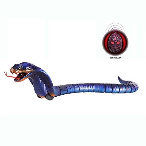 Realistische RC Schlange, Designerbox 40,6cm Upgraded lang Wiederaufladbare Fernbedienung RC Schlange Cobra Spielzeug für Kinder Geburtstag Party Geschenk Play