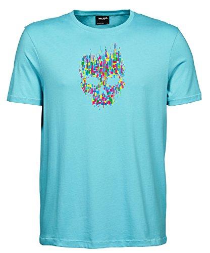 makato Herren T-Shirt Luxury Tee Mosaik Aqua