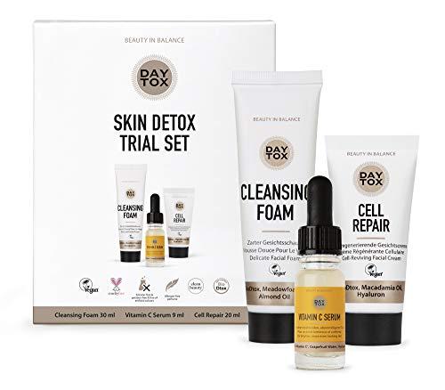 DAYTOX - Skin Detox Trial Set - Kennenlern-Set für tägliche Pflege - Vegan, ohne Farbstoffe, silikonfrei und parabenfrei - 59 ml