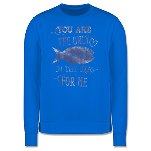 Statement Shirts - Your are the only fish in the sea for me - Herren Premium Pullover Himmelblau