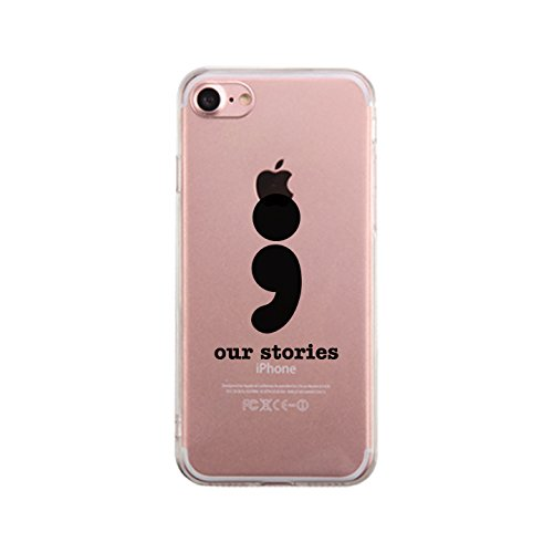 365 Printing Schutzhülle für Apple iPhone 7, aus weichem TPU, transparent, Our Stories-Left