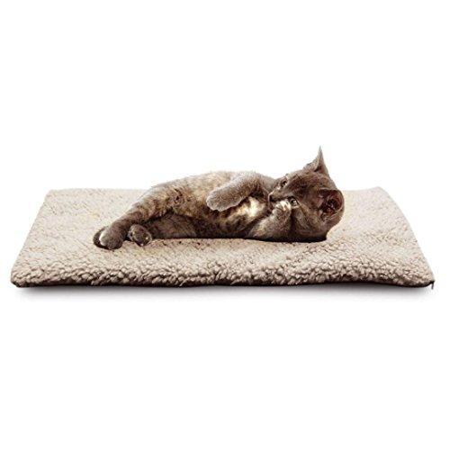 Hunpta Selbstheizungs Hundekatze Haustier Bett Thermalwaschbar keine Heizdecke erforderlich (Weiß)