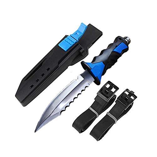 Samenbola Promithi Tauchmesser mit hohem Härte-Tauchermesser für Überlebensausrüstung Edelstahl Ergonomisches Taktmesser -