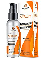 Organo Gold Hair Serum Heat Protection, Damage Repair, Anti Frizz All Hair Types Paraben & Sulphate free for Men and Women 100ml