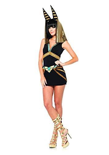 Leg Avenue 85207 - Anibus Kostüm Set, 2-teilig, Größe S/M, schwarz/Gold