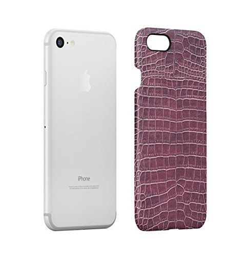 Ruby Red & Black Snake Skin Pattern Apple iPhone 7 PLUS Snap-On Hard Plastic Protective Shell Case Cover Custodia Ruby Red Skin
