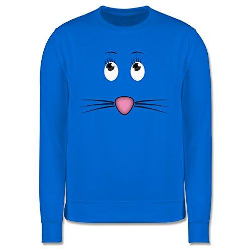 Sonstige Tiere - Maus Gesicht Mouse - Herren Premium Pullover Himmelblau