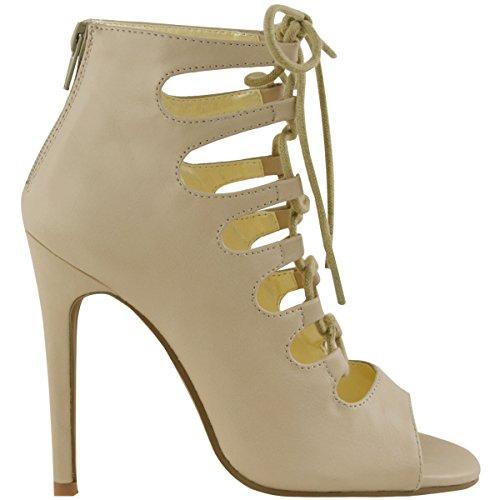 Scarpe col tacco alto tacchi a spillo donnan in Gladiator Suffragette la circonferenza senza dita Pelle Simil Pelle