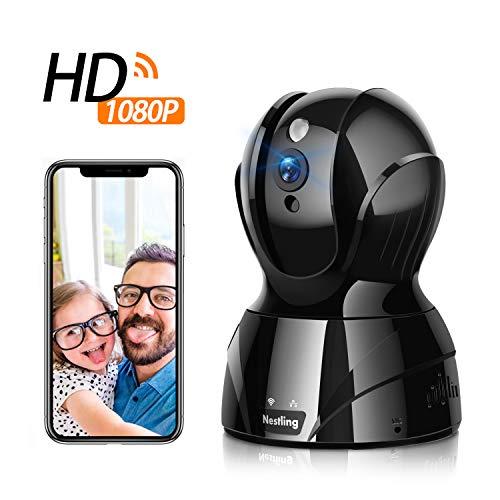 Nestling WLAN Überwachungskamera,1080P HD WiFi IP Kamera Innenüberwachung, Baby/Haustier-Monitor,Mobile App Kontrolle mit Zwei-Wege-Audio Cloud-Kamera Nachtsicht,Bewegungserkennung