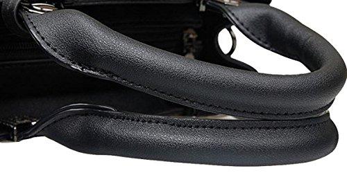 Mittleren Alters Damen Mode Elegante Atmosphäre Einfache Schultertasche Handtasche Messenger Bag White