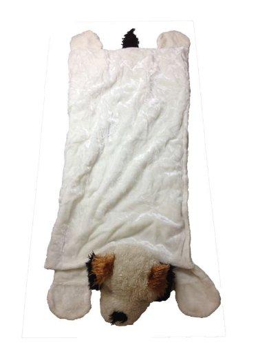 Foxxeo 11001-STD | Deluxe Schlafsack für Kinder Kinderschlafsack Plüsch Hunde Hundeschlafsack 165 cm Hund Schlaf Sack brauner Tierschlafsack Tier Tiere Hunde Kind Kinder ()