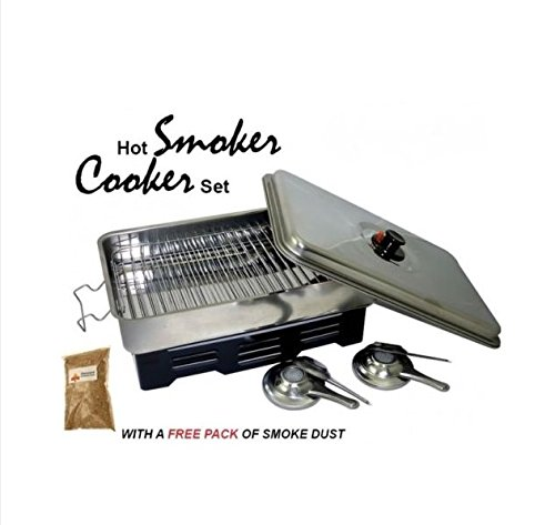 OUTDOOR SMOKER COOKER & WOOD CHIPS Fish Meat Camping BBQ FREE WOOD CHIPS(31512)