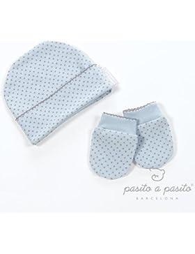 Pasito A Pasito  - Gorro + manoplas estrellas azul