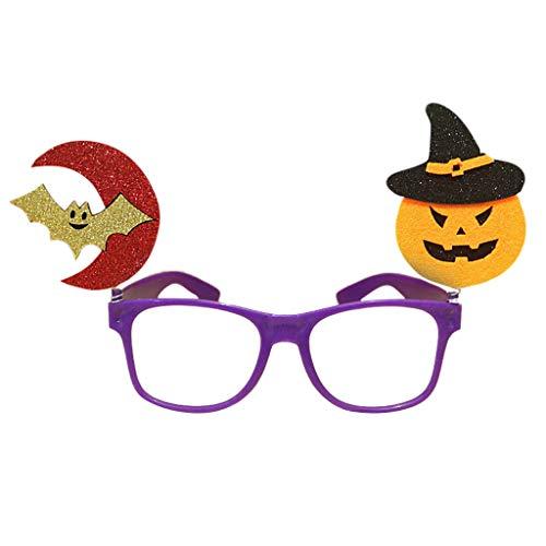 Autone Kinder Halloween-Brillenrahmen, Kürbisschläger, Geist, Tricky Eyewear Party Kostüm Streiche Requisiten - Geist Kostüm Streich