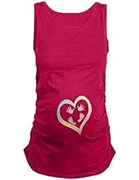 Mengonee Mujeres Verano Tallas Grandes Embarazadas Camisetas Ropa de Enfermería Top Embarazo Para Mujeres Marternity T