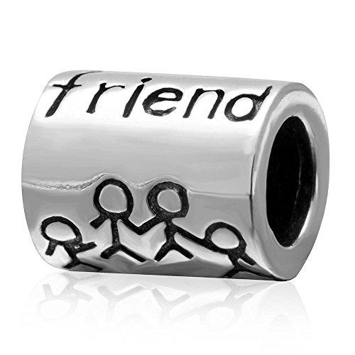 Best friend together forever charm in argento sterling 925amicizia bead compatibile con i braccialetti europei