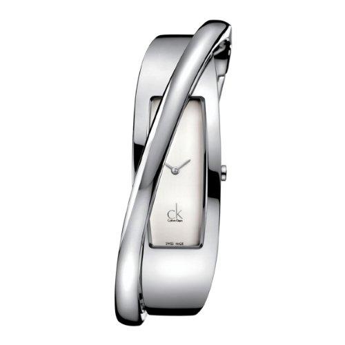 Calvin Klein K2J24101 - Reloj analógico de mujer de cuarzo con correa de acero inoxidable plateada