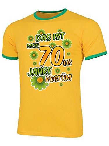 70er Jahre Kostüm Männer T-Shirt Motto Schlager Party Karneval Fasching Geschenke Schlagertshirt Kleidung Gruppenkostüm Zubehör Brille Deko Jacke (70er Jahre Motto Kostüme Ideen)
