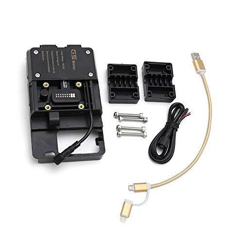 KKmoon Staffa di Navigazione per Telefono Cellulare per Moto, Accessori Supporti per Telefono con Caricatore USB Adatto per R1200GS LC e Adventure S1000XR R1200RS