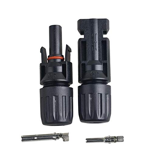 ieenay 10/20/30/50 Paar MC4 30A Male Female M/F Wire PV Cable Connector Set Solar Panel, 50 Paar