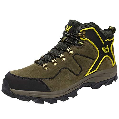 HDUFGJ Herren Damen Trekking-& Wanderhalbschuhe rutschfeste Atmungsaktiv Outdoor-Schuhe Verschleißfest Wanderschuhe Reiseschuhe Bequem Laufschuhe Wasserdicht Freizeitschuhe 39(Armeegrün)