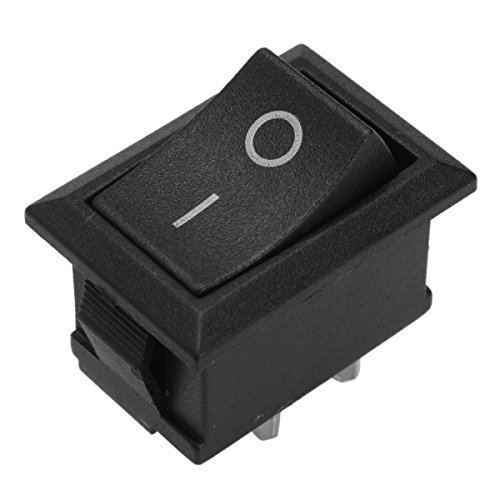 JenNiFer 2Pin 10A 250V T125/55 Plastic Rocker Switch Double Pole for Canal Mr-2 Series -