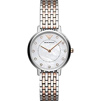 Emporio Armani Analog Mother of Pearl Dial Women's Watch – AR11094