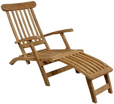 Deckchair, Liegestuhl, massives Teakholz von SAM® bei Gartenmöbel von Du und Dein Garten