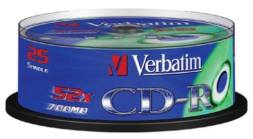 verbatim-43432-cd-r-52x-25-pack-optical-media