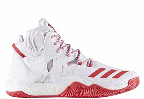 adidas Herren D Rose 7 Basketballschuhe Ftwwht/Rayred/Ftwwht