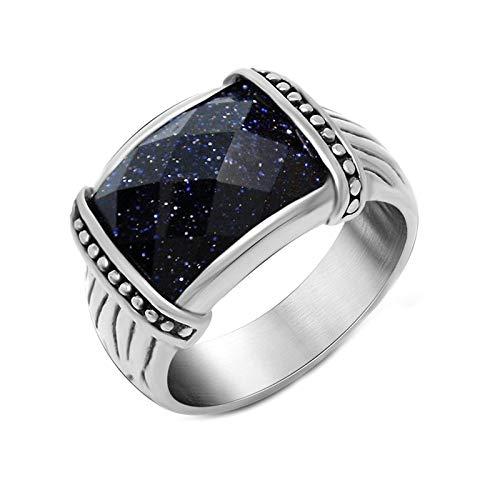 ge für Damen Gothic Quadrat Blau Ringe Größe 67 (21.3) ()