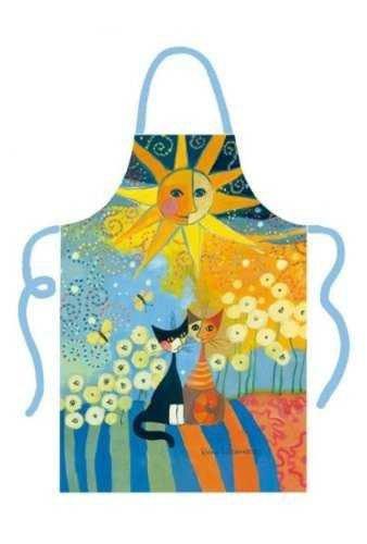 Rosina Wachtmeister algodón delantal delantal–Serie 'Sunny Day'–Gatos Diseño