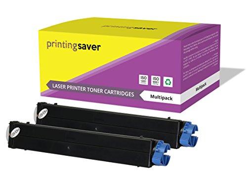 Printing Saver 4200SCHWARZ (2) Toner kompatibel für OKI B4100, B4200, B4250, B4300,...