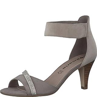 Tamaris Schuhe 1-1-28305-28 bequeme Damen Sandalette, Sandalen, Sommerschuhe für modebewusste Frau, braun (PEPPER/GLAM), EU 38