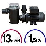 Pompe filtration piscine - 1,5CV Mono 13m³/H - Poolstyle