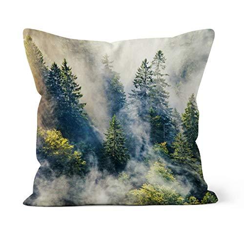 fotobar!style Motivkissen 50 x 50 cm mit Füllung Schwarzwald im Nebel -