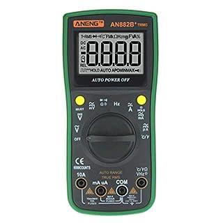 Demino ANENG AN882B+ Digital Multimeter Auto Range AC/DC Backlight Meter Resistance Voltage Current Measurement Green 185 * 85 * 55mm