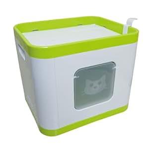 Papillon Litière Pour Chat Cube Avec Oreiller - Maison De Toilette - (48 x 40 x 40 cm)