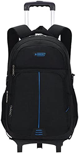 Sac à dos à roulettes - Durable Rolling Daypack Sac d'école à roulettes Sac d'enfant élégant Sac de voyage amovible   New Style