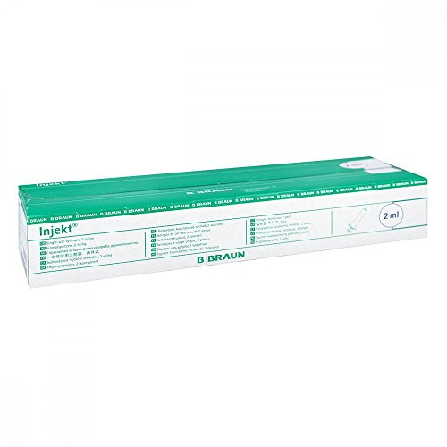 Braun Injekt Spritzen mit zentr. Konus Luer 100X2 ml