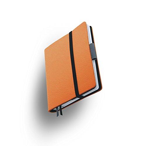 Whitebook SLIM S214-SX, modulares Notizbuch, Veaux Prestige, geschnitten, Orange Hermes, 120 S. Papier FSC