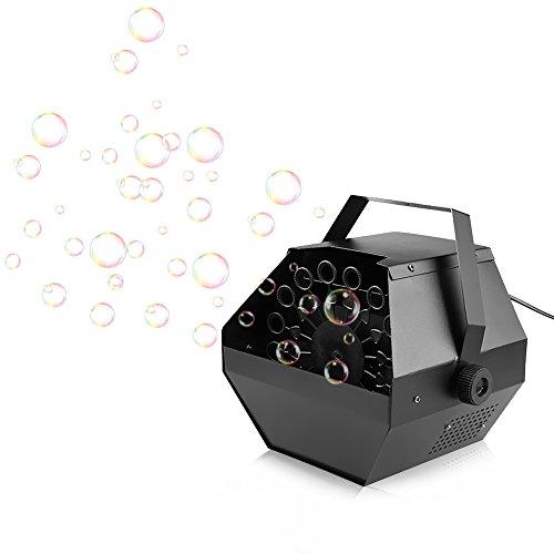 Lixada Tragbare 0.8L Seifenblasenmaschine/Hohe Leistung Automatische Bubbles Maker, Controller: Drahtlose Fernbedienung/Manuelle Steuerung, Einzelteil Größe: 23 * 23 * 23cm.