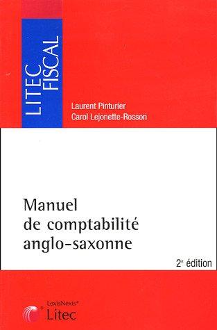 Manuel de comptabilité anglo-saxonne