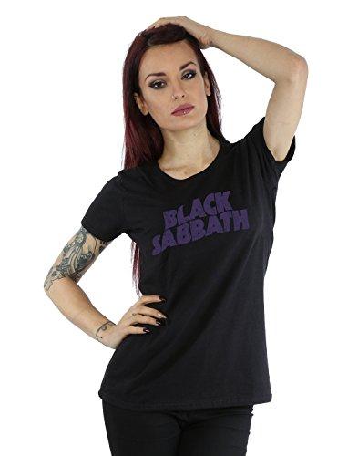Black Sabbath Damen Distressed Logo T-Shirt XX-Large Schwarz