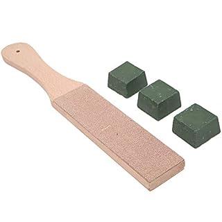 Kit de 4 marchepieds en cuir pour travaux manuels avec 3 paquets de polissage