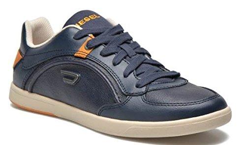 Diesel Chaussures Sneaker Hommes Cuir Lacets Eastcop Starch Bleue Nights